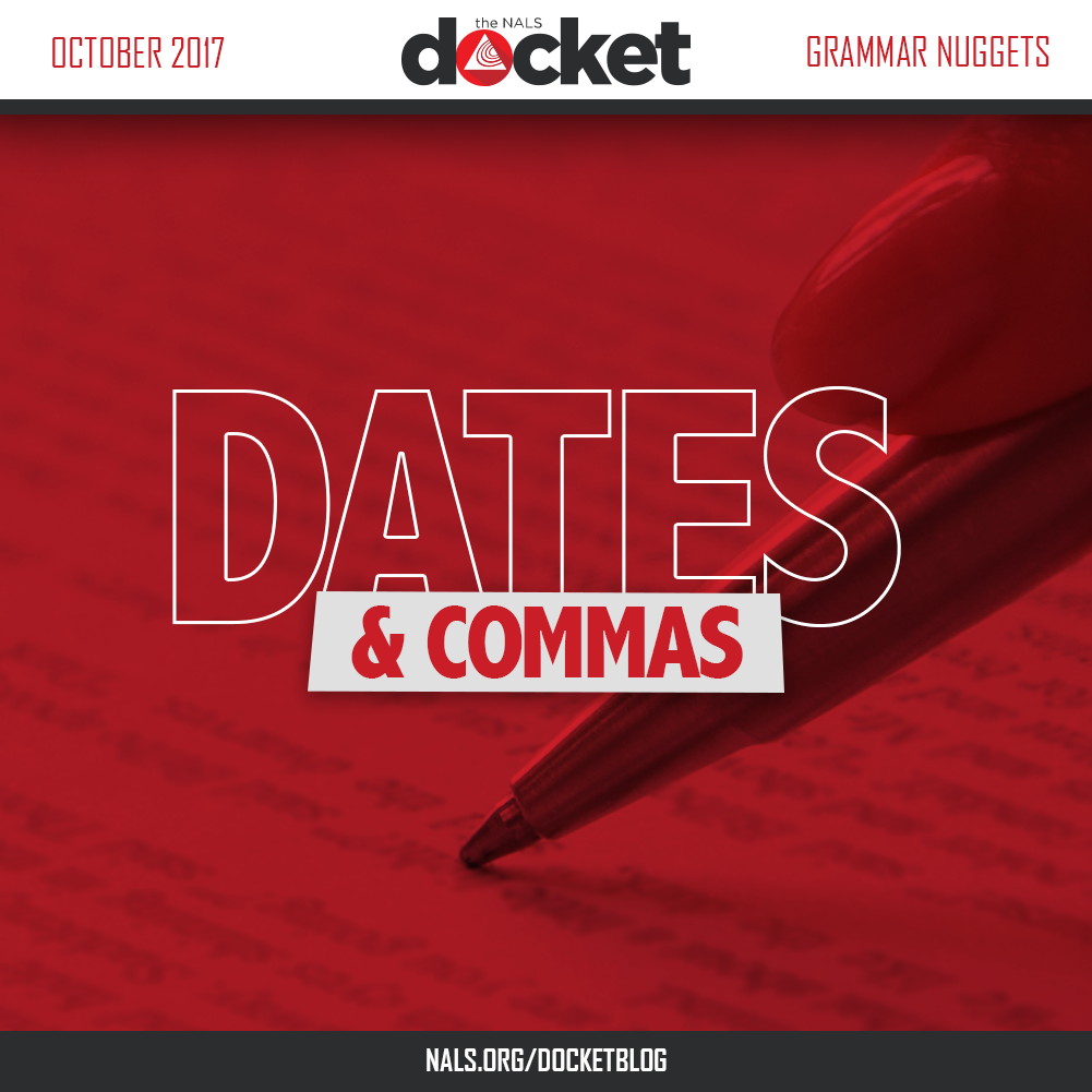 Grammar Nuggets: Dates and Commas