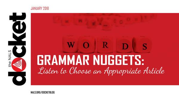 Grammar Nuggets: Articles