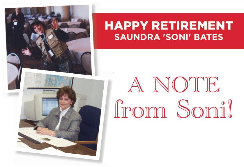 Soni Bates - Happy Retirement!