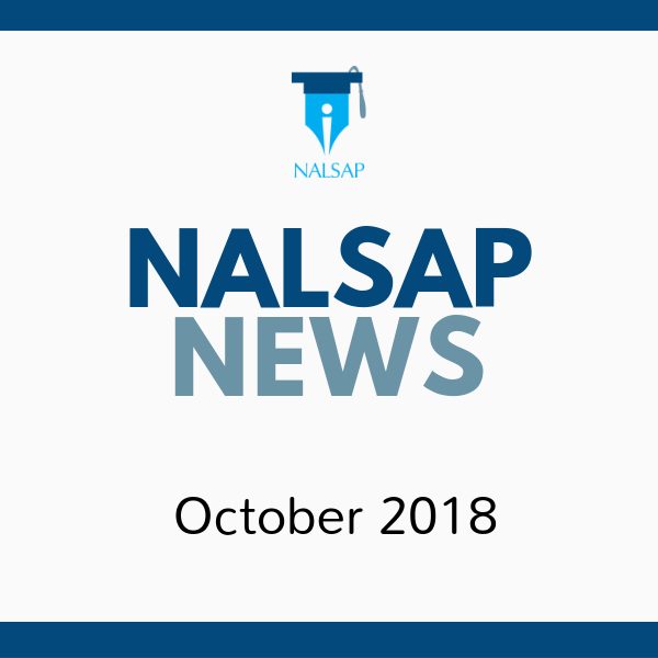 October 2018 NALSAP Newsletter