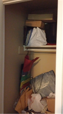A dysfunctional closet BEFORE