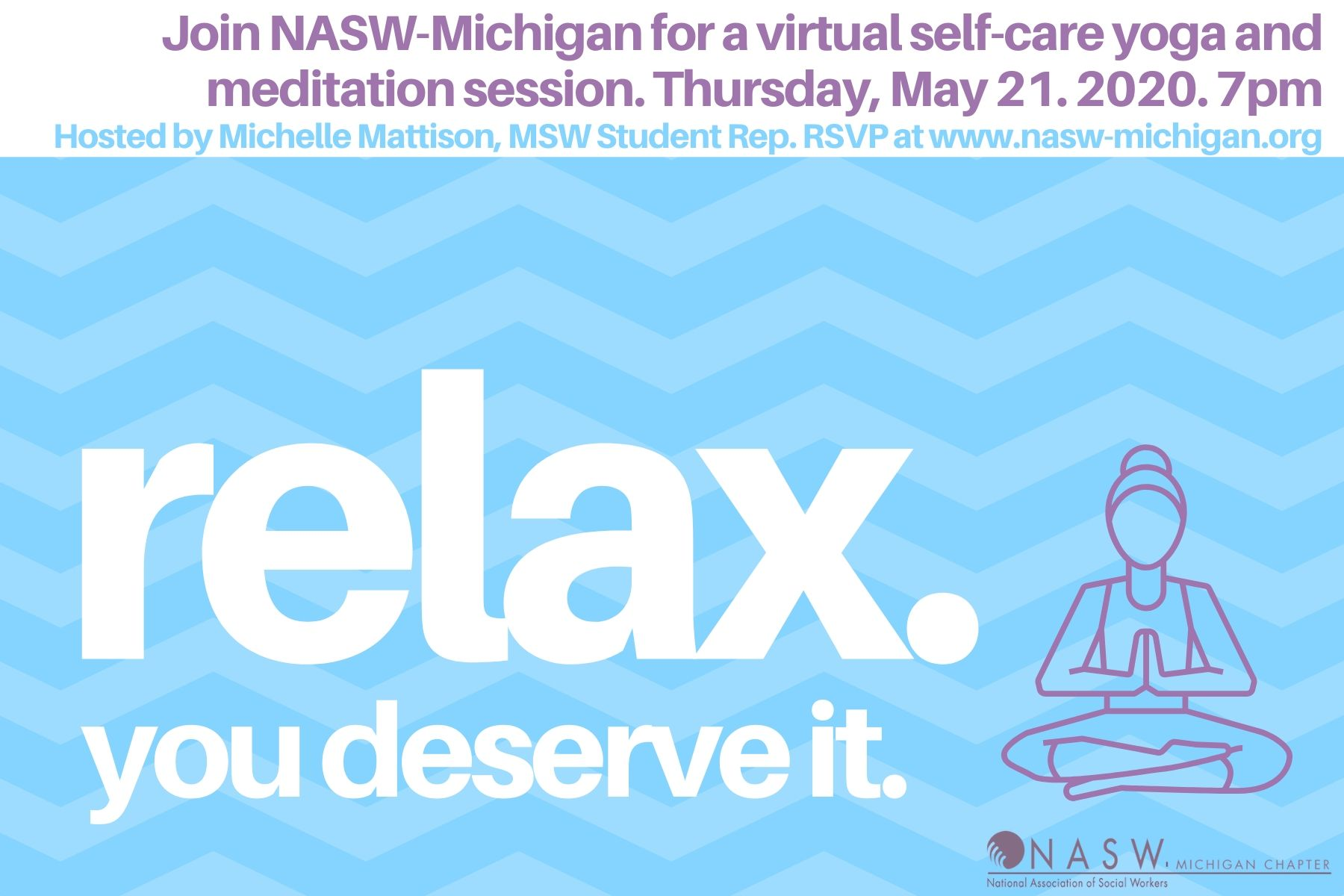 Virtual Social Work Yoga Meditation Session National Association Of Social Workers Michigan