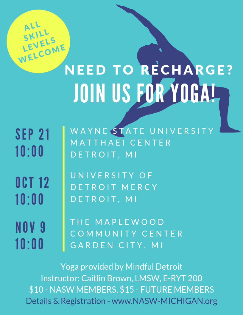 Self Care Yoga For Social Workers National Association Of Social Workers Michigan