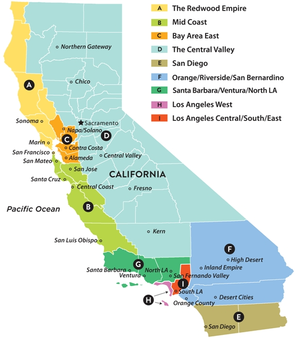 regional map national association of social workers california