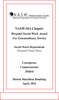 2014 Special Award Presentations to Hospital Social Work Departments