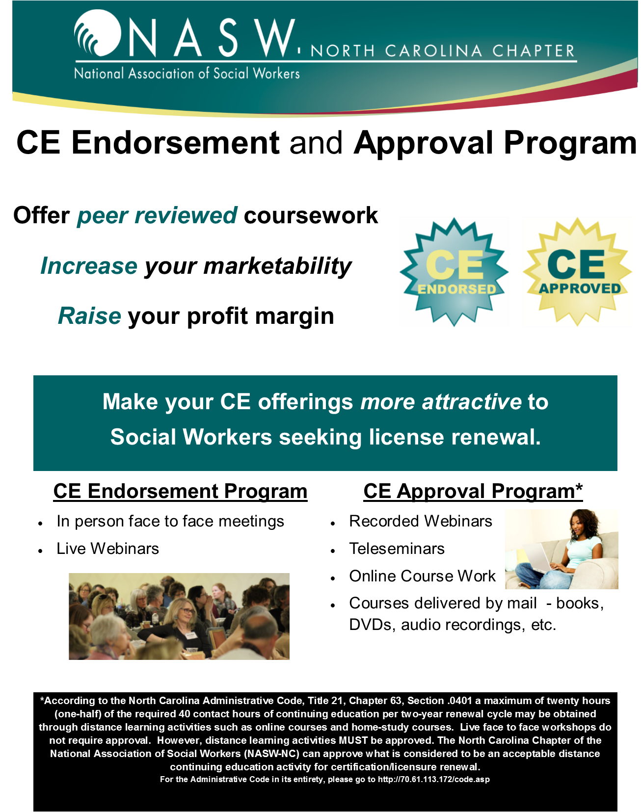 Ce Endorsement Approval Programs National Association Of Social