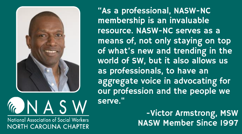 NASW-NC Member of the Week: Victor Armstrong - National