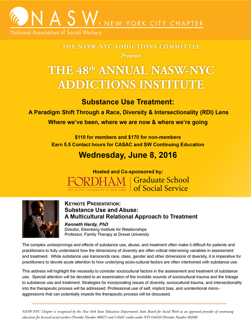 49th Annual Addictions Institute - National Association of Social ...