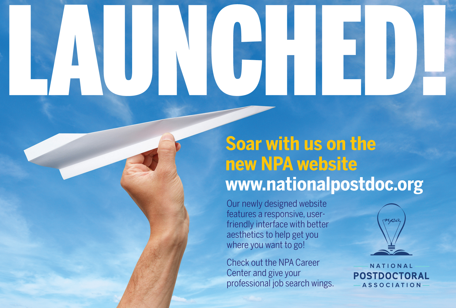 Welcome to our new Website! - National Postdoctoral Association