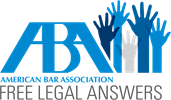 aba free legal answers logo
