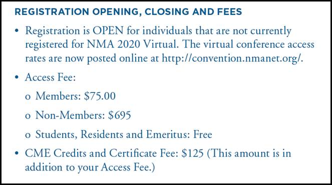 2020 Virtual Conference Fees