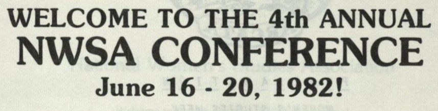 Heading of the 1982 conference program book