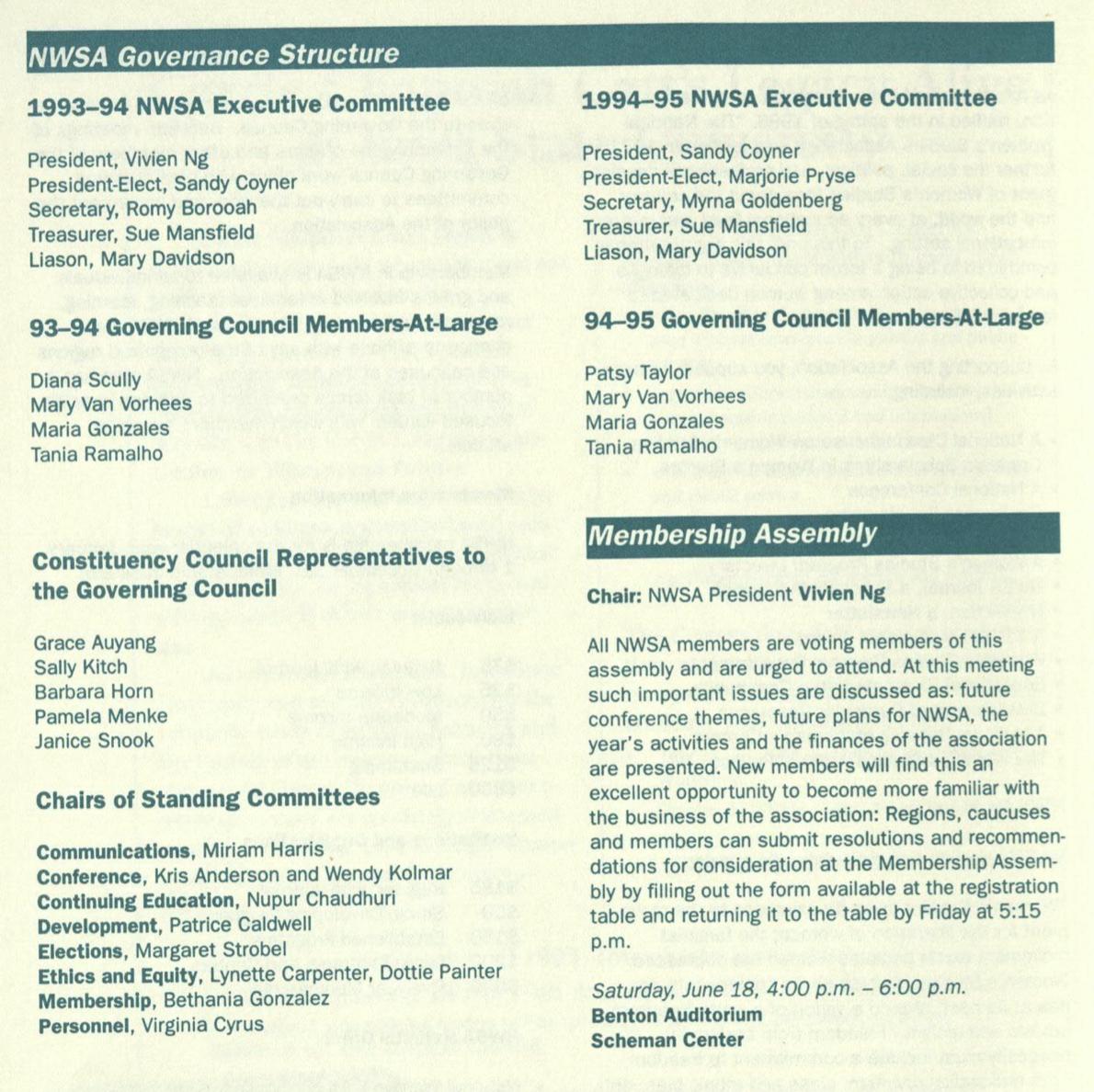 1994 Coordinating Council Members