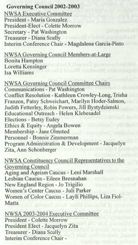 2003 Governance Members