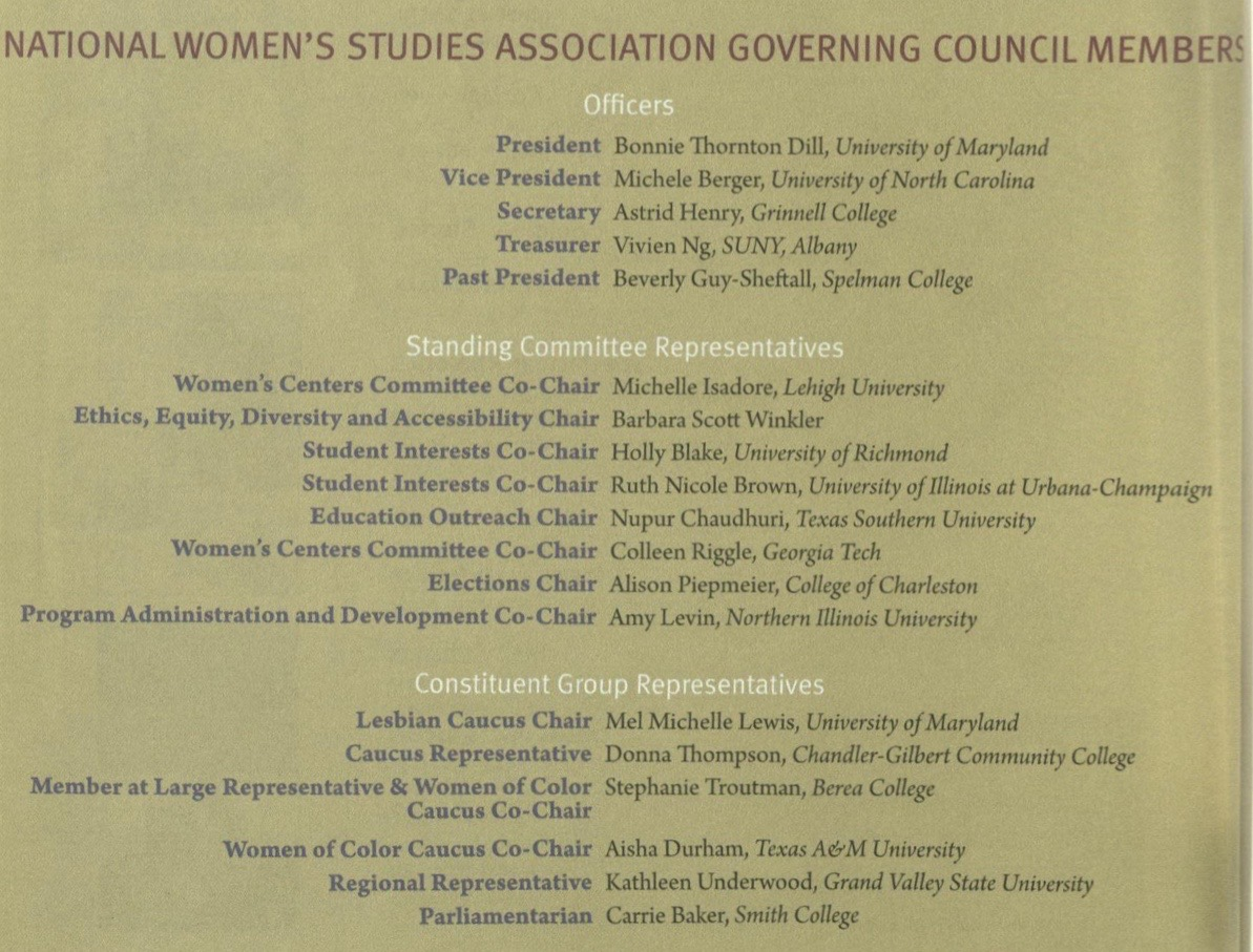 2011 Governance Members
