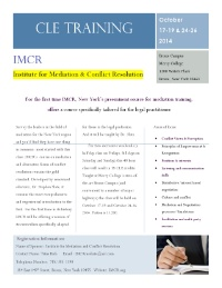 Mediation Training for Legal Practitioners (CLE)