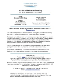 30-Hour Basic Mediation Training