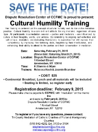 Cultural Humility Training