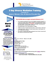 3-Day Divorce Mediation Training