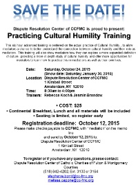 Practicing Cultural Humility