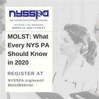 MOLST: What Every NYS PA Should Know in 2020