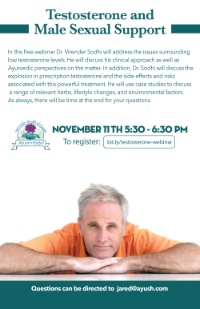 SPONSOR EVENT: Free Webinar Testosterone and Male Sexual Support