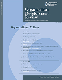 Organization Development Review issue covers