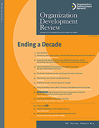 Organization Development Review issue cover