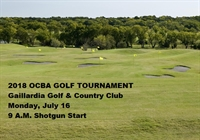 2018 OCBA ANNUAL GOLF TOURNAMENT