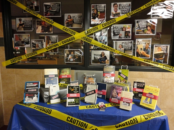 Owasso High School Library display