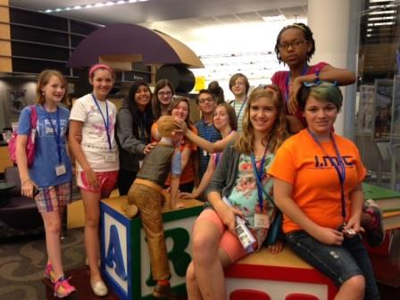 Campers at the Norick Library, OKC