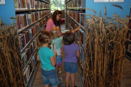 Campers visiting the Northwest Oklahoma City Public Library