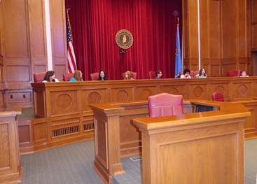 OU Law School's courtroom