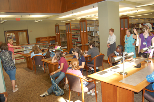 A visit to the Mabee Legal Information Center, TU's law library