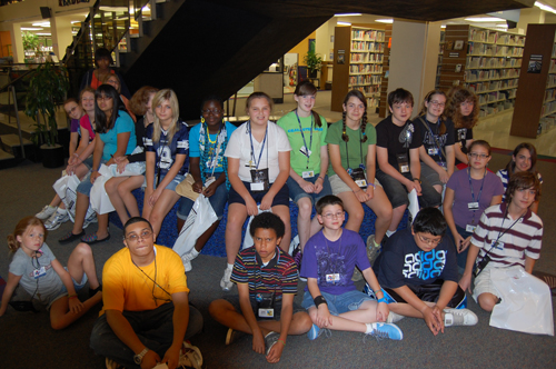 Group photo at TCCL's Central Library in downtown Tulsa