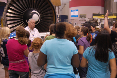 On the tour of the Tulsa Air and Space Museum
