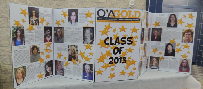OLA GOLD's display table introduced the participants in the upcoming Leadership Institute