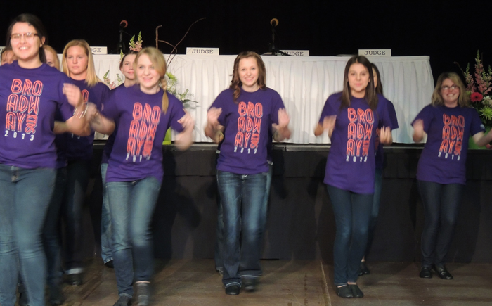 "The ""Broadway Kids"" from the Brass Ring Theater entertained at the All Conference Event"
