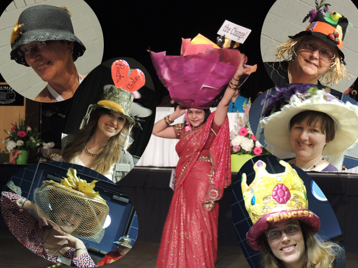 "There were hats galore in the ""Hats off to YOU!"" competition"