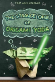 Cover of the Sequoyah Award-winning book The Strange Case of Origami Yoda