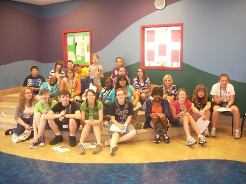 Group photo in the Martin Regional Library's story-time room