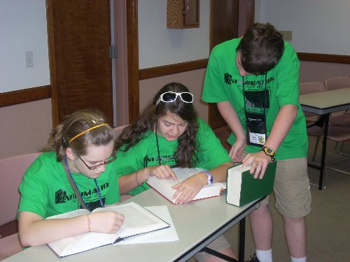 Campers research their family histories