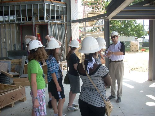 Touring the new OU-Library construction site