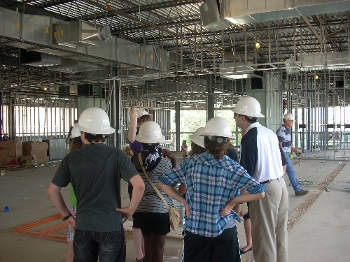 Touring the OU-Tulsa Library's construction site