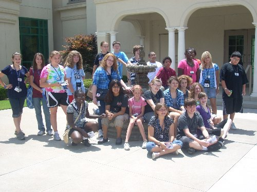 Group photo outside the Tulsa Historical Society Building
