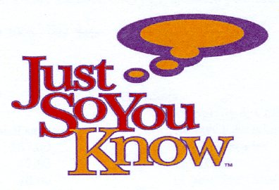 """Just So You Know"" logo"