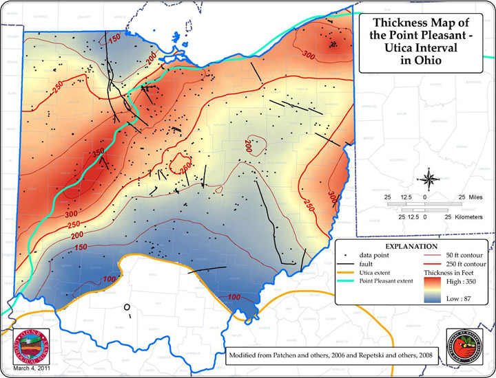 Ohio Shale Plays Ohio Oil And Gas Association - Utica shale map