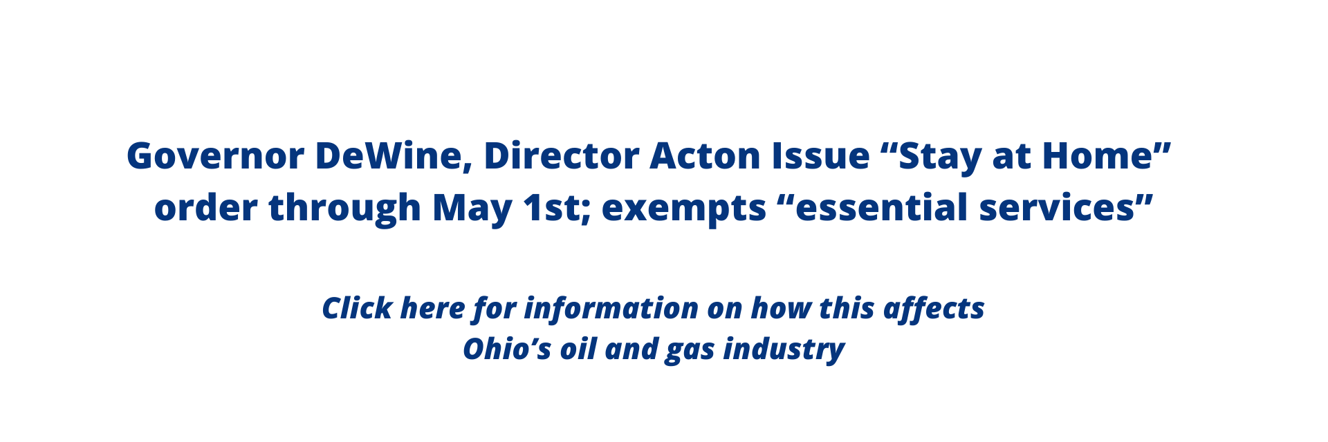 COVID-19 and what how it affects Ohio's Oil and Gas Industry