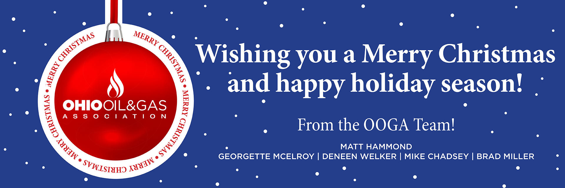Wishing you a Merry Christmas and happy holiday season!