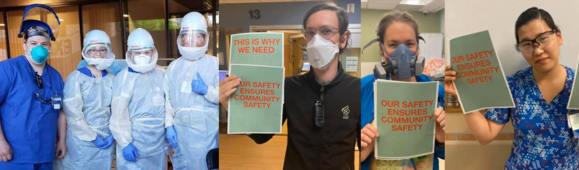 ONA nurses advocate for adequate PPE for the safety of all health care workers and patients.